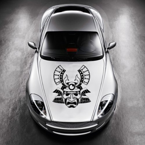 Vinyl Decals for Car Hood Ancient Mask Tattoo Sticker Art Any Vehicle Window Graphics Mural (4940)
