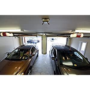 MAXSA Park Right Garage Laser Park, Dual Lasers for Perfect Parking Silver 37312