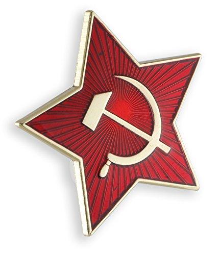 (USSR-H&S Russia Soviet Star Hammer + Sickle Red Enamel Lapel Pin (5 Pins))