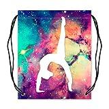 Gymnastic Galaxy Eco-Friendly Polyester Basketball Drawstring Bags (Twin Sides) - New Year Sale