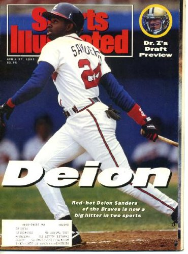 (Sports Illustrated April 27 1992 Deion Sanders/Atlanta Braves Cover, LA Lakers, Arazi/Kentucky Derby, Mel Kiper, Karl Malone/Utah Jazz)