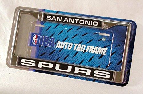 Rico Industries NBA San Antonio Spurs Laser Cut Inlaid Standard Chrome License Plate Frame