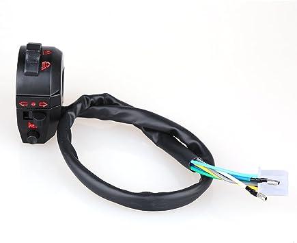 Clankmoto 12V Motorcycle Handlebar Waterproof Control Switch for Under 7//8 Diameter Handlebar