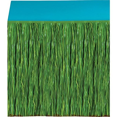 Amscan Green Grass Party Table Skirt