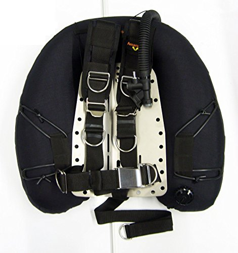 TEC DIVING BCD HARNESS 45 LB LIFT WING DOUBLES SS BACKPLATE TECH SCUBA DIVE (Wing Scuba)