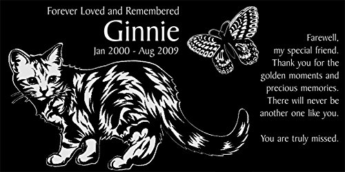 Personalized Butterfly Memorial Engraved Headstone product image