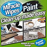 Premium Cleaning Wipes for Paint - Safely Clean Up All Types of Paint, Caulk, Epoxy, Acrylic, Brushes, Oil & More. (30 Count MiracleWipes)