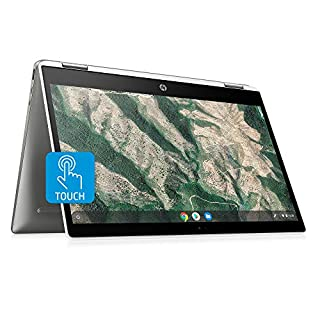 HP Chromebook X360 14-Inch HD Touchscreen Laptop, Intel Celeron N4000, 4 GB RAM, 32 GB eMMC, Chrome (14b-ca0010nr, Ceramic White/Mineral Silver)