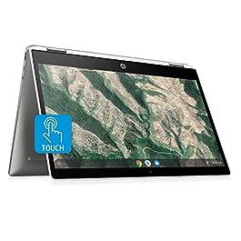 HP 14b-ca0010nr Chromebook X360 14-Inch HD Touchscreen Laptop, Chrome (Ceramic White/Mineral Silver)