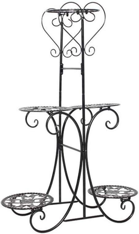 Macetero de hierro forjado, tipo de suelo, jardinera de interior, balcón, maceta, tres colores opcionales. negro