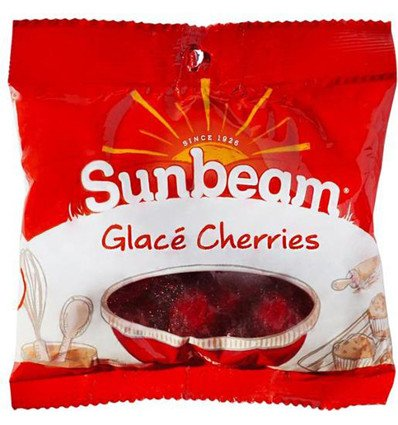 Price comparison product image Sunbeam Glace Red Cherries 100g