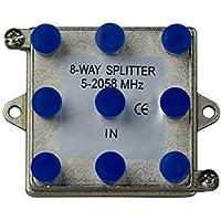 On-Q/Legrand 8-Way Vertical Coax Splitter, 2 GHz