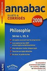 Philosophie L, ES, S : Sujets et corrigés