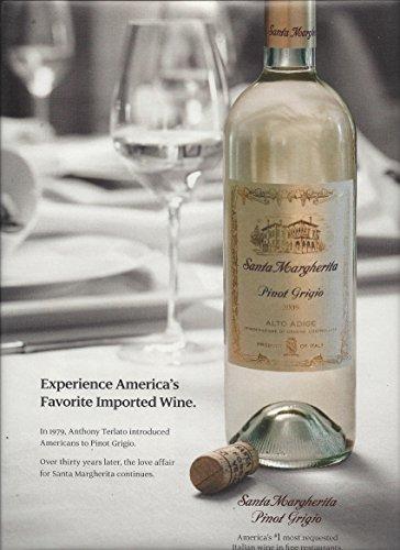 Print Ad For 2009 Santa Margherita Pinot Grigio Table Scene