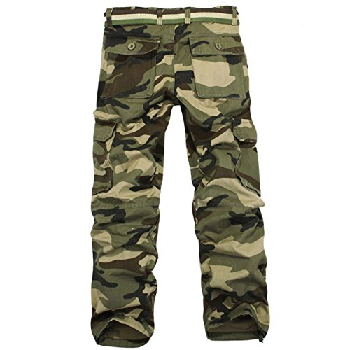 Miki Da Men Pants New Arrival Men Fashion Camouflage Pants Casual Style Trousers Pant Men Big Size 28-38 gray 34