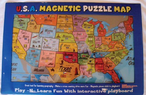 Magnetic USA Puzzle Map