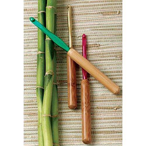 Bamboo Handle/Silvalume Head Crochet Hook 5.5
