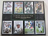 Jets Curtis Martin 8 Card Plaque w/Custom Engraving
