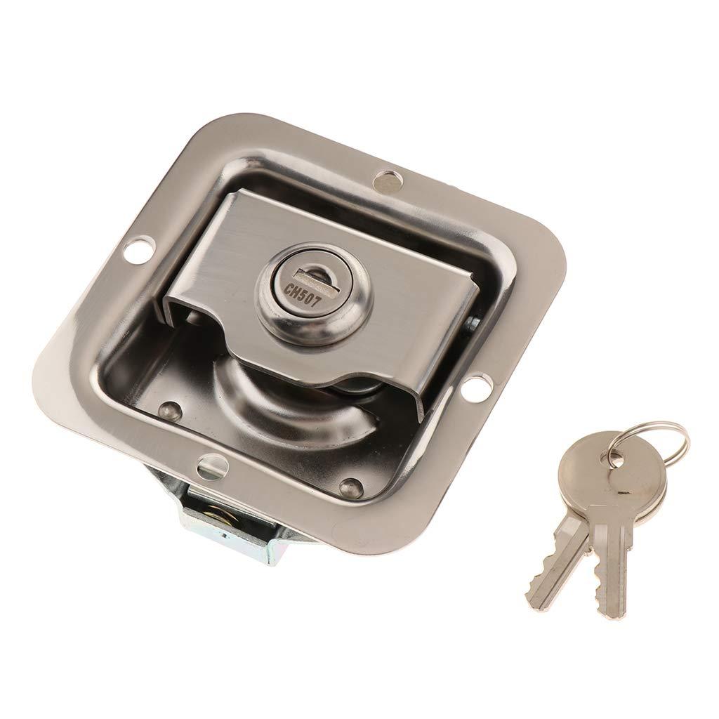 non-brand Homyl RV Trailer Cabinet T/ürverriegelung Truck Engineering Toolbox Lock Mit 2 Schl/üsseln