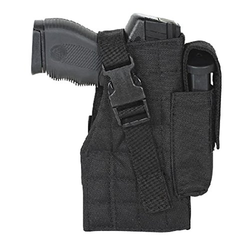 (VooDoo Tactical 25-0029001001 Holster with Attached Mag Pouch, Right, Black)