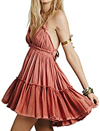 V-Neck Halter Dress