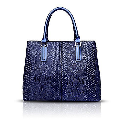 Blue Pattern Shoulder Sets Women's Handbags Messenger Fashion Wallet Bag Handbag Two Crocodile Son of Tisdaini Navy nZHIPqq