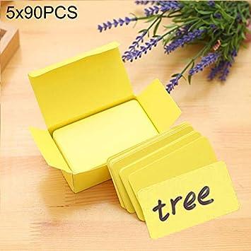 5 cajas (aproximadamente 90 PCS en una caja) Tarjeta de felicitación DIY en blanco