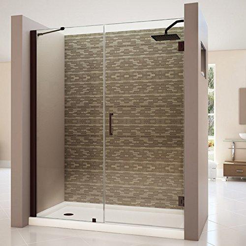 Cheap dreamline unidoor 57 58 in width frameless hinged for Discount frameless shower doors