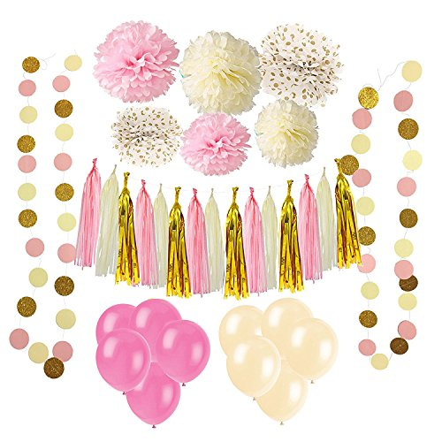 pink and white streamers - 4