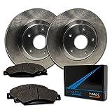 Max Brakes Front Premium Brake Kit [ OE Series Rotors + Metallic Pads