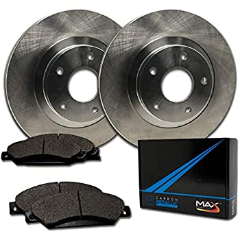 Max Brakes Front Premium Brake Kit [ OE Series Rotors + Metallic Pads ] TA039741 Fits: Toyota 2006-2015 Yaris 2012-2015 Prius C