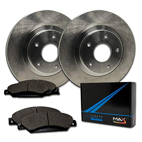 Max Brakes Front Premium Brake Kit [ OE Series Rotors + Metallic Pads ] TA064241 | Fits: 1994 94 1995 95 1996 96 Buick Park Avenue ()