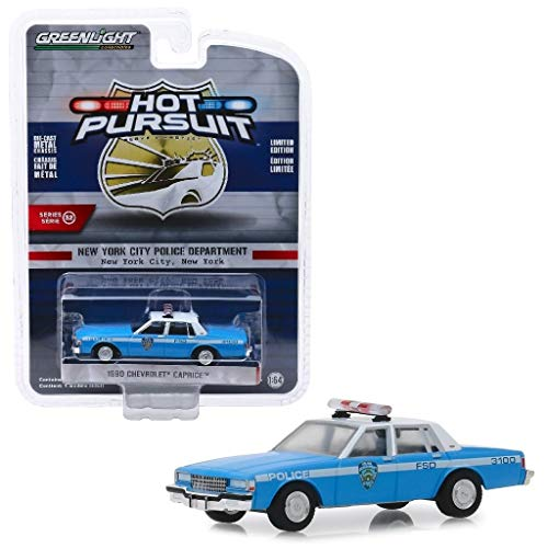 DDK COLLECTIBLES Greenlight 42890 C 1990 Chevrolet Caprice NYPD Police DIECAST Model CAR 1:64