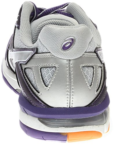 ASICS Women's Gel Tactic Volleyball Shoe, Purple/Silver/White, 9.5 M US by ASICS (Image #2)