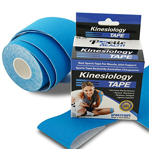Poetic Health Kinesiology Sports Tape for Support & Pain Relief *Developed By Leading Chiropractic Doctor (Chiropractic Tape)