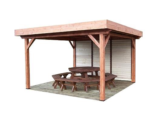 habrita - habrita - Toldo ombra tejado plano con ventelles móvil ...