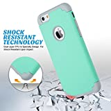 ULAK iPhone 6S Case Mint Green, iPhone 6 Case, Slim Dual Layer Soft Silicone & Hard Back Cover Bumper Protective Shock-Absorption & Skid-Proof Anti-Scratch Hybrid Case
