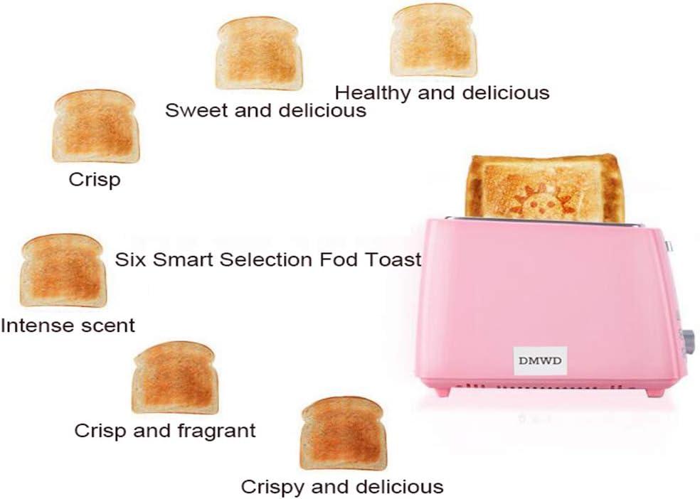 HEWE Elettrico in Acciaio Inox Tostapane, Automatiche ad Uso Domestico Cottura del Pane Maker Colazione Macchina Toast Sandwich Grill Forno 2 Fetta per la casa Green