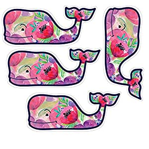 Amazon Com Vineyard Vines Colorful Flower Whale Stickers
