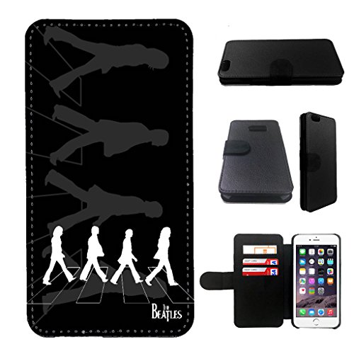 Beatles iphone 5 wallet leather case, iphone 5s wallet case, iphone 5/5s flip case, black