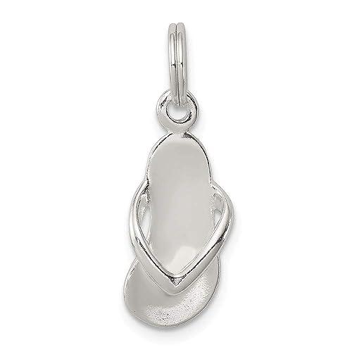 Sterling Silver Flip Flops Charm