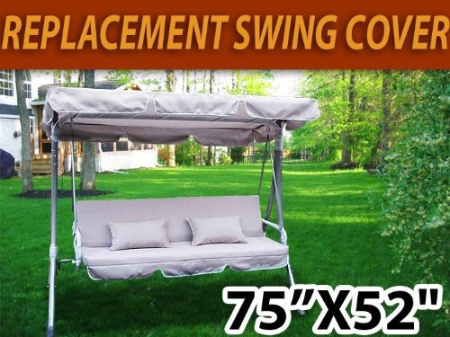 Amazon.com  Outdoor Swing Canopy Replacement Porch Top Cover Seat Patio (77 x43 ) Beige  Outdoor Canopies  Garden u0026 Outdoor & Amazon.com : Outdoor Swing Canopy Replacement Porch Top Cover Seat ...