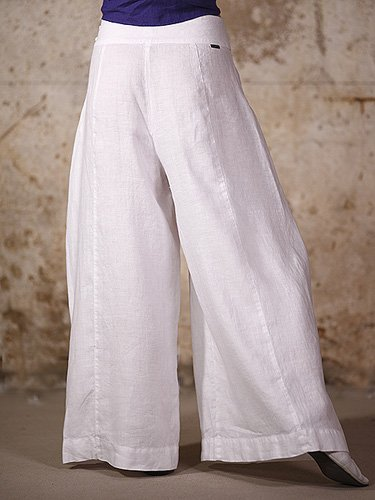 Falda pantalón de lino en color blanco modelo Leila: Amazon.es: Hogar