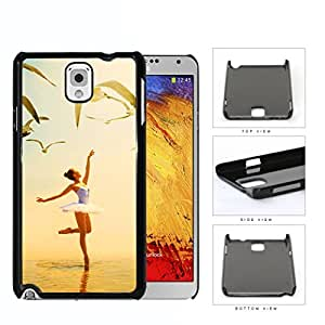 Ballerina Dancing With Pigeons Flying Hard Plastic Snap On Cell Phone Case Samsung Galaxy Note 3 III N9000 N9002 N9005