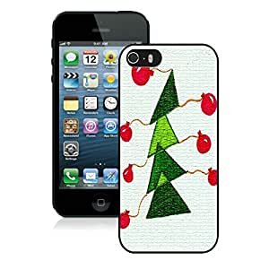 Diy Design Iphone 5S Protective Cover Case Christmas Tree iPhone 5 5S TPU Case 11 Black