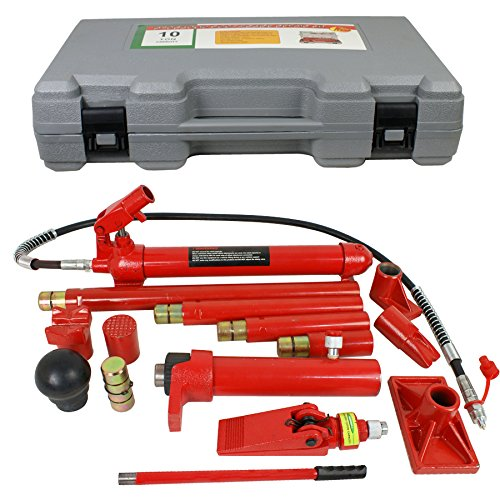 Super Deal Red Porta Power Hydraulic Jack Body 10 Ton Frame Repair Kit Auto Shop Tool (#4) by SUPER DEAL (Image #2)
