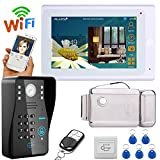 MOUNTAINONE 7'' TFT Wired / Wireless Wifi RFID Password Video Door Phone Doorbell Intercom System with Electronic Door Lock + IR-CUT HD1000TVL Camera
