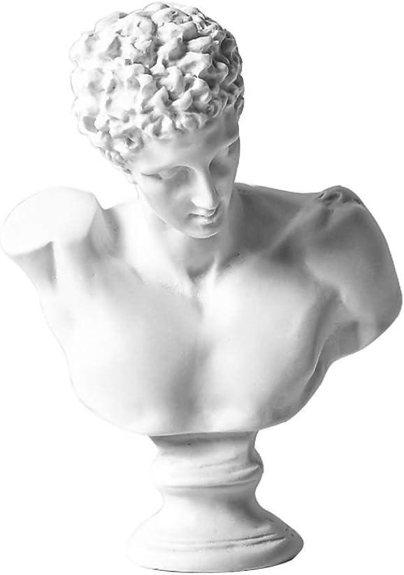 WaNana 3.15''Resin Sketch Figurines-Mini Plaster Statue Venus de Milo Replica Aphrodite Greek Goddess Bust Statue Home Decor Souvenirs-Great for Artists Broken Arm