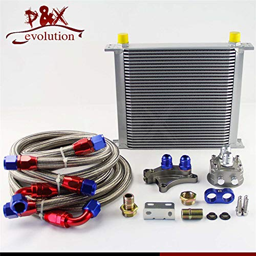 FidgetGear 34 Row Oil Cooler Kit for Nissan Silvia S13 S14 S15 180SX 200SX 240SX SR20DET SL