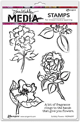 Ranger Dina Wakley Media Cling Stamps Scribbly Girlies